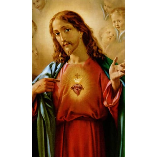 Sacred Heart of Jesus Personalized Prayer Card (Priced Per Card)