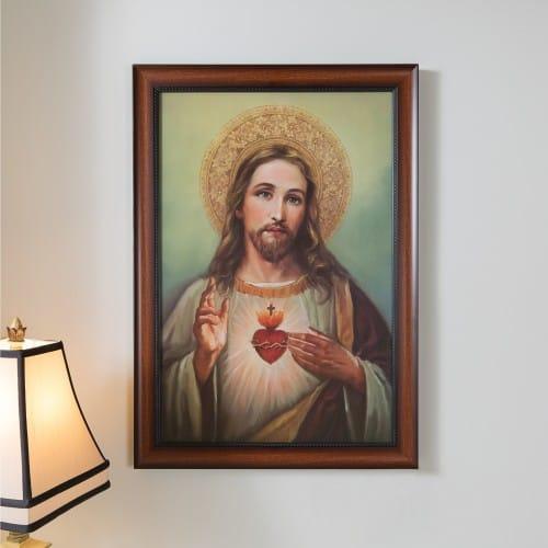 Sacred Heart Of Jesus Framed Art 27 The Catholic Company