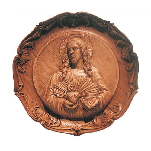 Sacred Heart Of Jesus Round Wall Plaque The Catholic Company