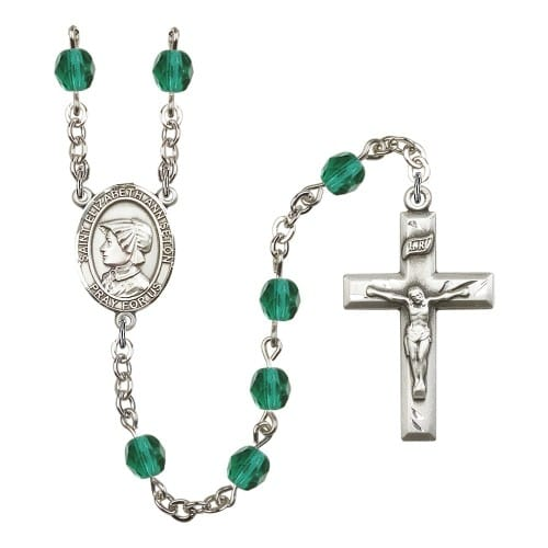 St. Elizabeth Ann Seton Teal December Rosary 6mm