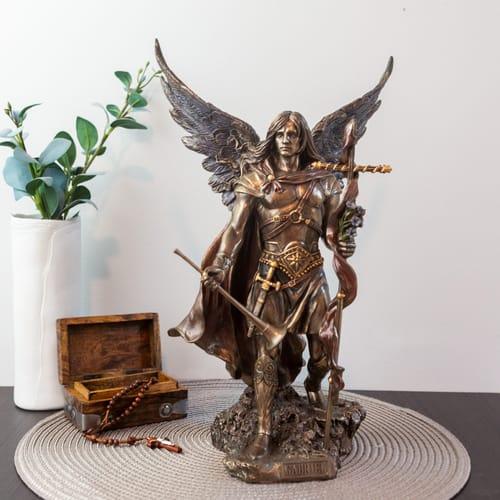 Gabriel Angel Statues Saint Gabriel Bronzed ...