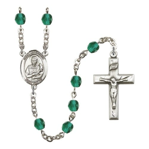 St. Lawrence Teal December Rosary 6mm