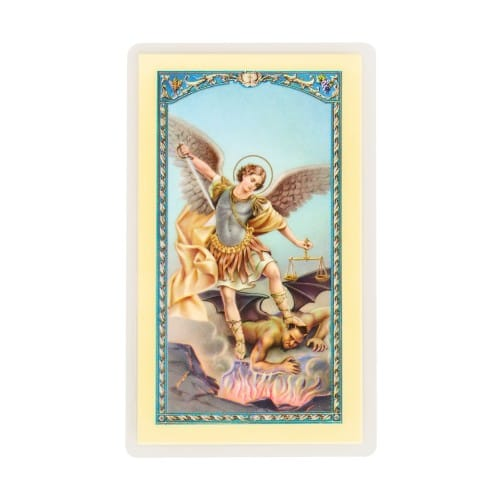 graphic regarding St. Michael the Archangel Prayer Printable named St. Michael Laminated Prayer Card