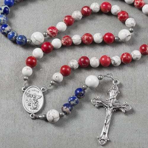 St. Michael Patriotic Rosary w/ Prayer Card