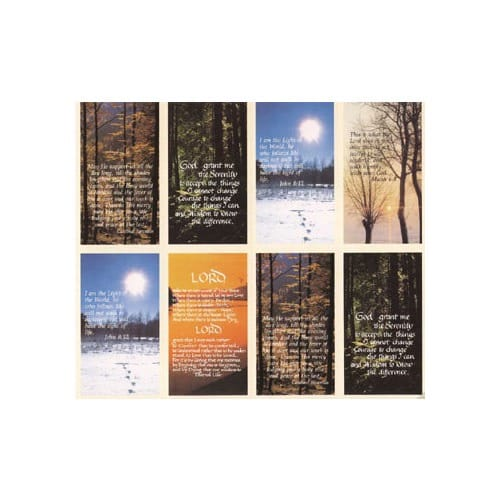 Sceneries with Verse Personalized Prayer Card (Priced Per Card)