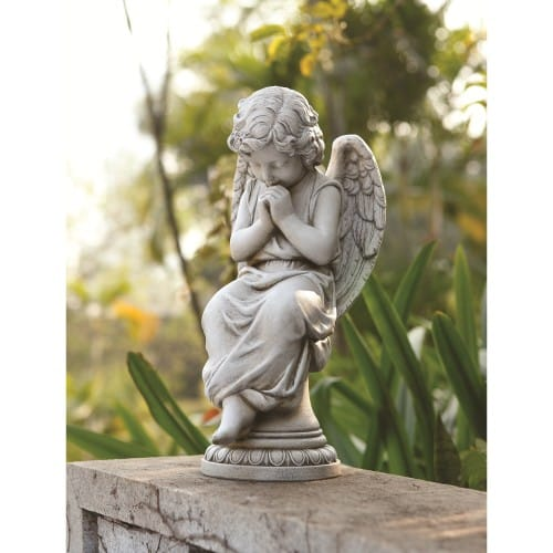 Seated Garden Angel on Pedestal 17 The Catholic Company