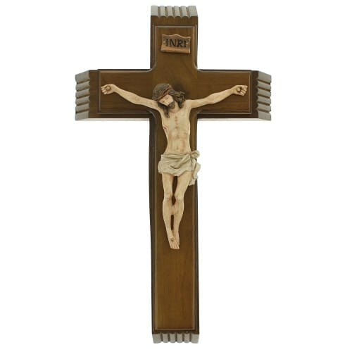 Sick Call Wood Crucifix Set 14 Inch