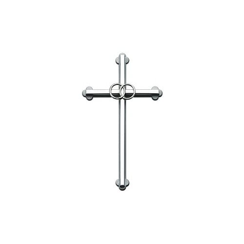 Silver Wedding Cross - 8 inch