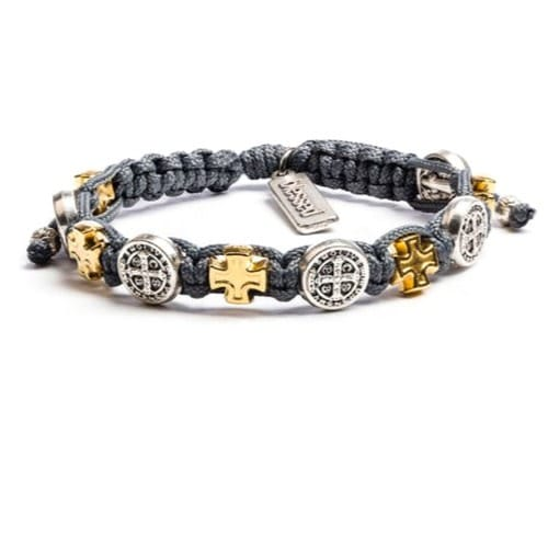 Slate St Benedict Blessings Bracelet