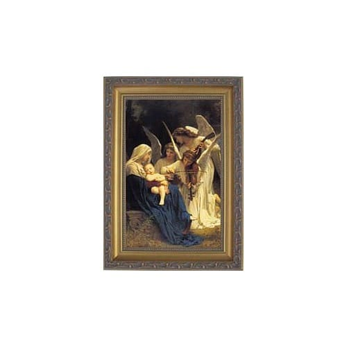 Song of Angels by Bouguereau, Gold Frame, 6x9