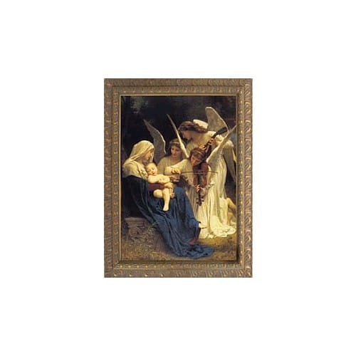 Song of Angels by Bouguereau, Ornate Gold Frame, 6x9