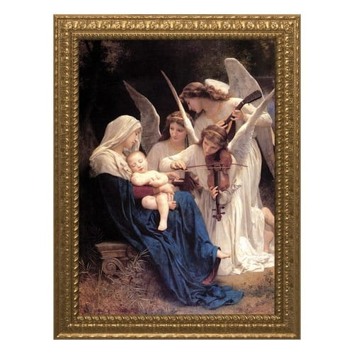 Song of Angels w/ Ornate Gold Frame (12x16)