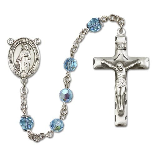 SS Aqua Blue March St. Catherine of Alexandria Rosary