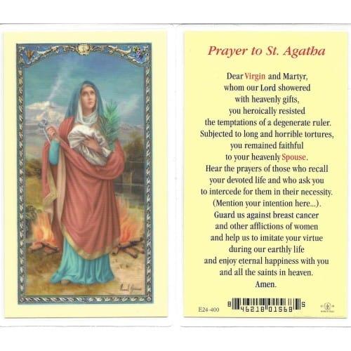 St Agatha Prayer Card The Catholic Company