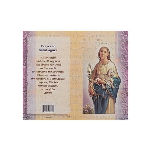 St. Agnes - Mini Lives of the Saints Folded Prayer Card