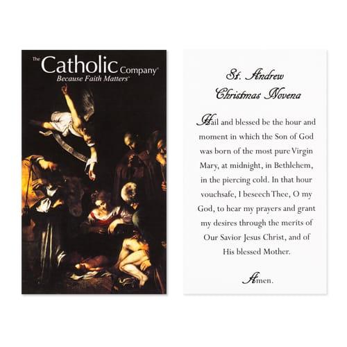 st andrew novena prayer card the catholic company