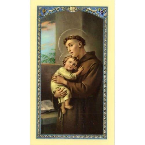 Home Design Business Ideas: St. Anthony Laminated Prayer Card