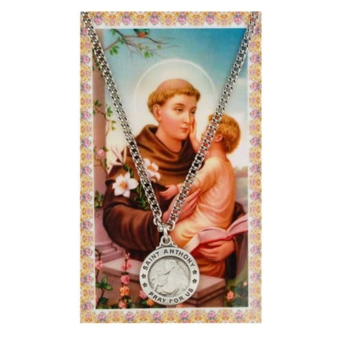St. Anthony Patron Saint Prayer Card w/ Medal <!anthony medal>