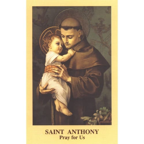 The St. Anthony Prayercard (Pack of 100)