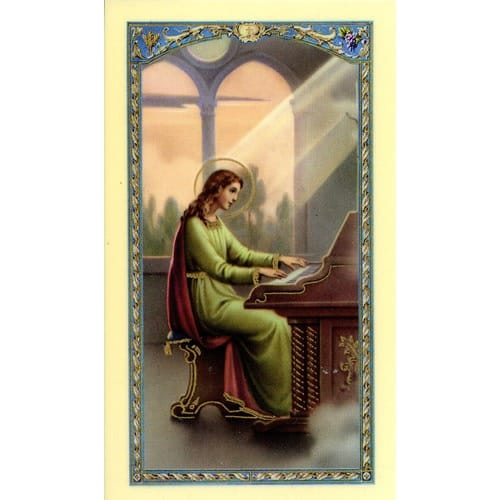 St. Cecilia Laminated Prayer Card