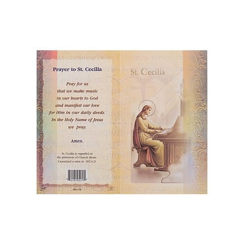 St. Cecilia - Mini Lives of the Saints Folded Prayer Card