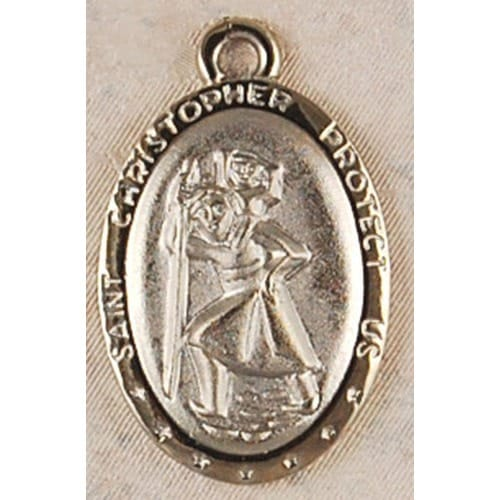 St. Christopher with 24 inch Chain