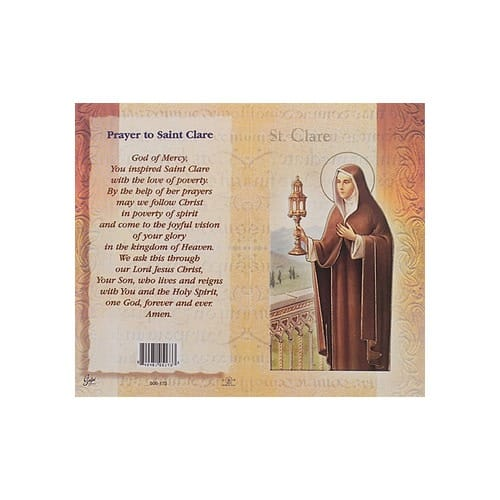 St. Clare - Mini Lives of the Saints Folded Prayer Card