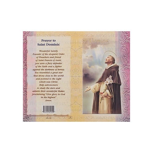 St. Dominic - Mini Lives of the Saints Folded Prayer Card
