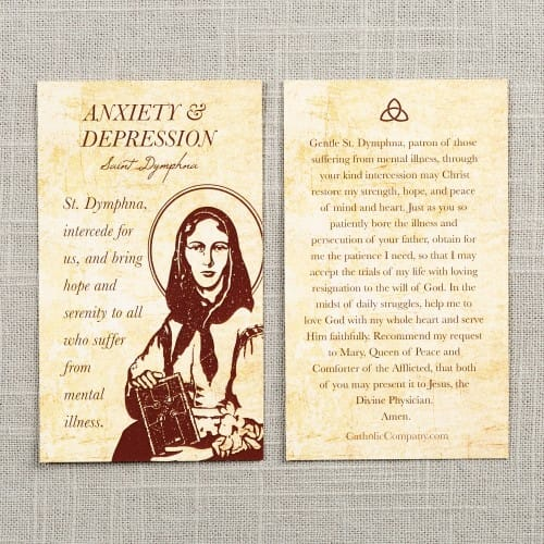 St. Dymphna - Depression and Anxiety Prayer Card
