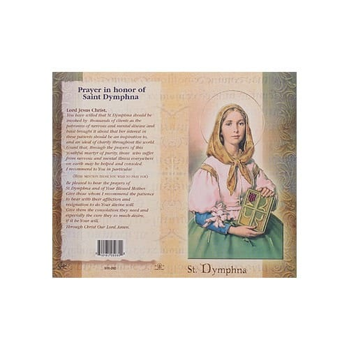 St. Dymphna - Mini Lives of the Saints Folded Prayer Card