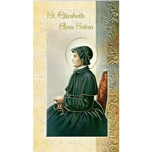 St. Elizabeth Ann Seton - Mini Lives of the Saints Folded Prayer Card