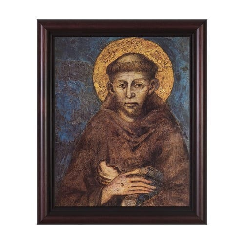 St. Francis by Cimabue w/ Cherry Frame