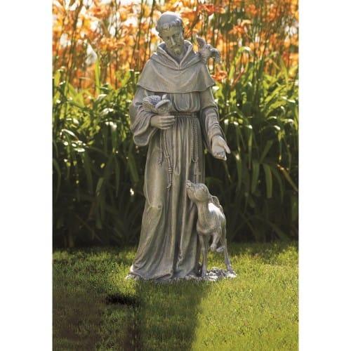 St. Francis With Deer Garden Statue 36