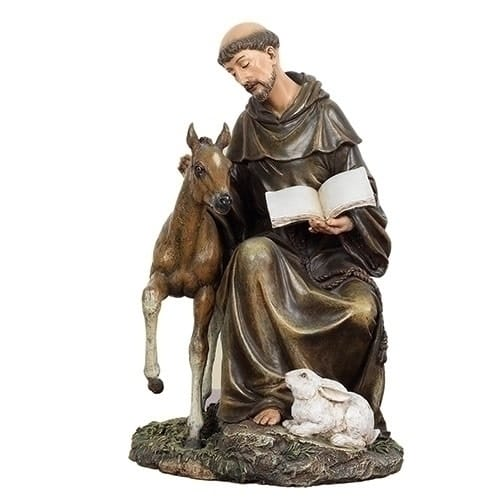 St. Francis with Horse, 8.5 inches