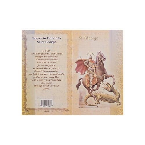 St. George - Mini Lives of the Saints Folded Prayer Card