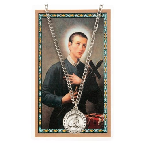 St. Gerard Patron Saint Prayer Card w/Medal<!germed>