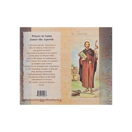 St. James (Apostle) - Mini Lives of the Saints Folded Prayer Card