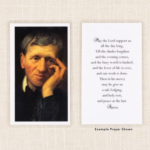 St. John Newman Personalized Prayer Card