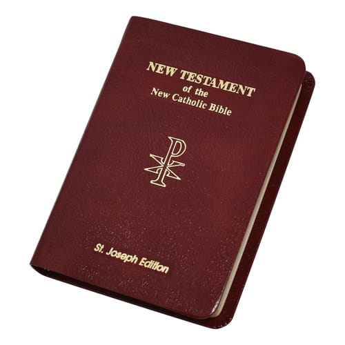 St. Joseph Edition NAB New Testament Vest Pocket - Burgundy Bonded Leather