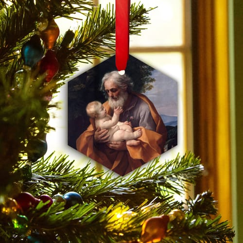 St. Joseph With Infant Jesus Ornament