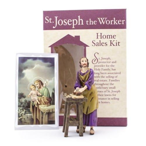 st joseph the worker home sale kit the catholic company. Black Bedroom Furniture Sets. Home Design Ideas