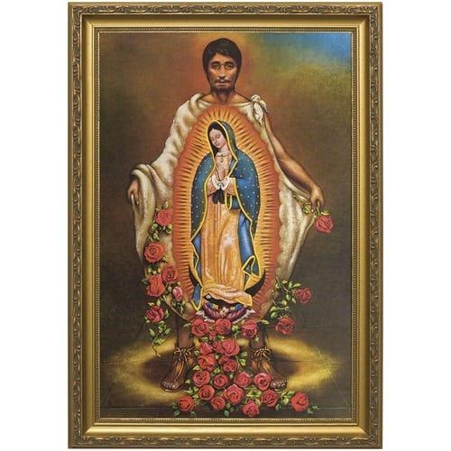 St Juan Diego W Gold Frame The Catholic Company