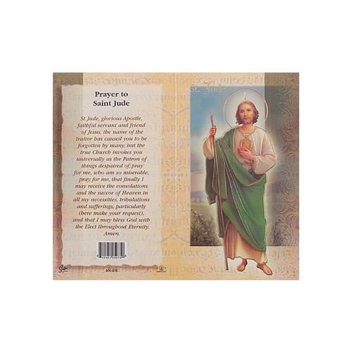 St. Jude - Mini Lives of the Saints Folded Prayer Card