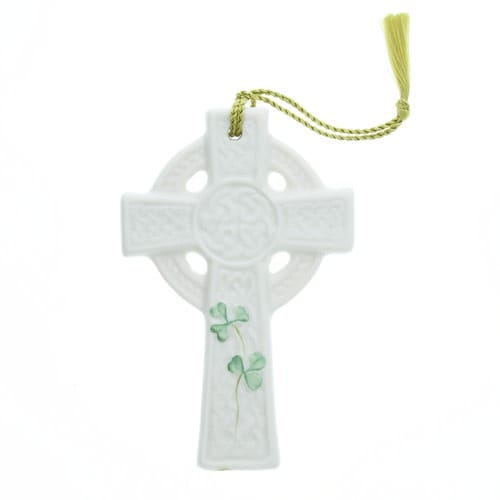 Belleek St. Kieran's Celtic Cross Ornament
