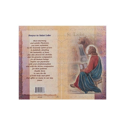 St. Luke - Mini Lives of the Saints Folded Prayer Card