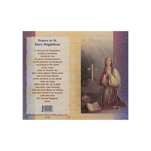 St. Mary Magdelene - Mini Lives of the Saints Folded Prayer Card