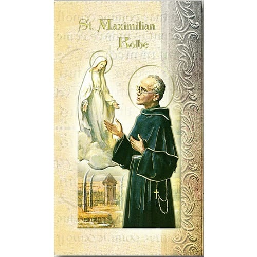 St. Maximilian Kolbe - Mini Lives of the Saints Folded Prayer Card