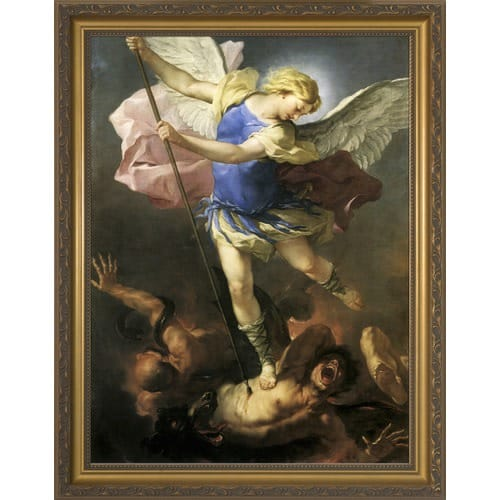 St. Michael Defeating Satan Framed Art