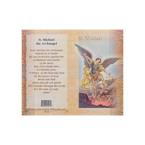 St. Michael - Mini Lives of the Saints Folded Prayer Card