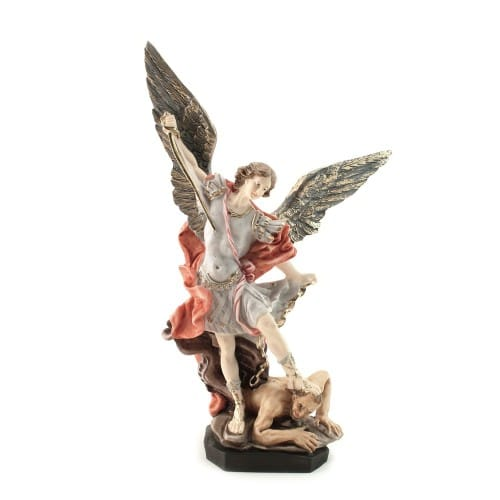 St. Michael Statue - Color 12 inches